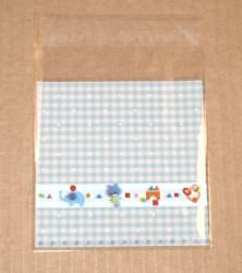 """фото: голубые целлофановые пакеты """"Игрушки"""", размер 10х11 см (с липучкой 10х11+2 см)"""