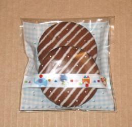 прозрачный пакет как упаковка для печенья, фото