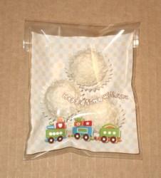 прозрачные пакетики как упаковка для пирожных, фото