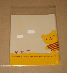 "фото: целлофановые пакетики ""Мишка"" с липучкой"