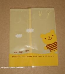 """фото: открытые целлофановые пакетики """"Мишка"""" (без липучки)"""