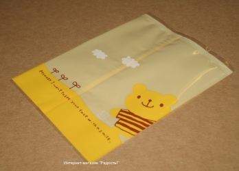 "открытые пакетики из целлофана ""Мишка"" (без липучки), фото"