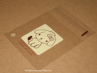 """целлофановые пакетики """"Щенок с бантиком"""", фото"""