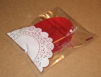 фото: прозрачный целлофановый пакет как упаковка для мыла ручной работы