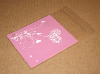 """розовые пакеты из целлофана """"Весна"""", внешний вид пакетов, фото"""