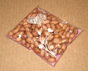розовые целлофановые пакеты, вид сбоку, фото