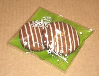 фото: пакет из целлофана как упаковка для печенья с глазурью