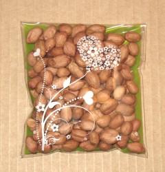 арахис упакован в целлофановый пакетик зелёного цвета, 10*11 см, фото целлофановые пакеты