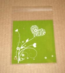 фото: целлофановые пакеты зелёного цвета, размер 10*11 см, с липкой лентой