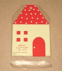 """фото: внешний вид целлофанового пакета """"Домик"""", размер 11*15 см"""