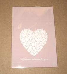 фото: целлофановые пакеты 13х19 см с сердечком