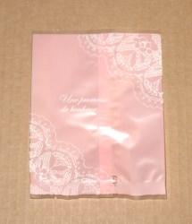 фото: открытые целлофановые пакетики, розовые, матовые, размер 10*12 см