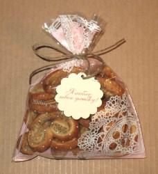 пакет целлофановый упаковка для крендельков с маком (в оформлении использованы шпагат из льна и ярлычок с надписью), фото
