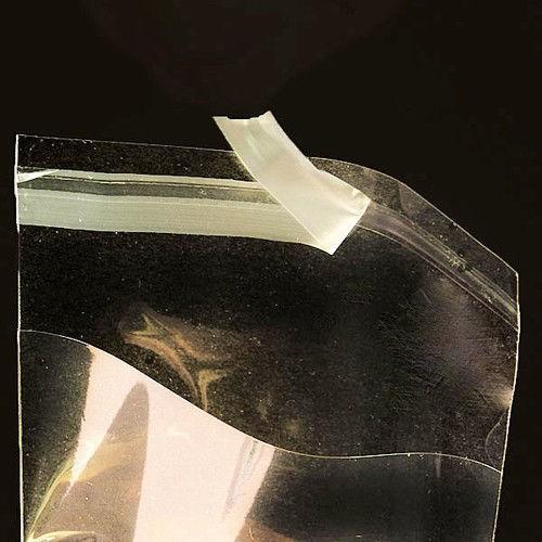 Прозрачные целлофановые пакеты с клапаном и липучкой 23х30 см (100 шт) / пакетики из целлофана