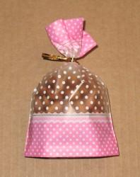 розовый целлофановый пакетик, фото