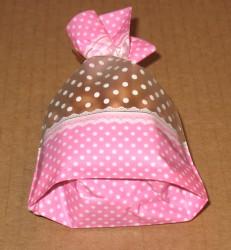 розовый целлофановый пакет с донышком, фото