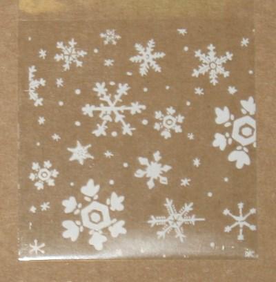 новогодний целлофановый пакет фото 4А и 4Б. Снегопад: 2 размера: 10х10 и 7*7 см
