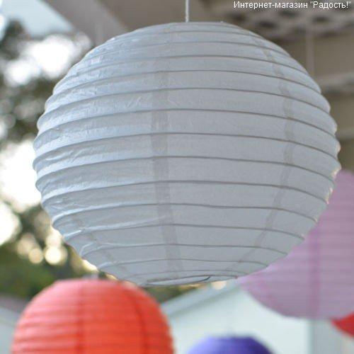 китайский бумажный фонарик в форме шара: круглый абажур для подвесного светильника