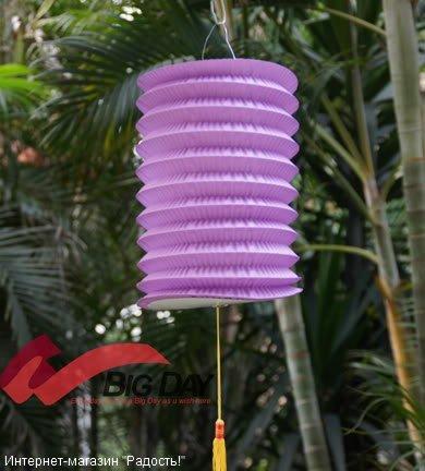 Пурпурный бумажный китайский фонарик, цилиндрической формы
