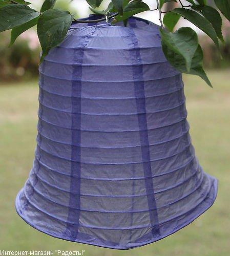 """Китайские бумажные фонарики """"Колокольчики"""": фонарик фиолетового цвета"""