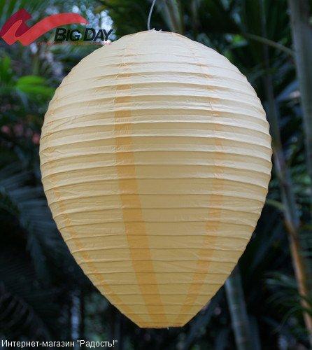Жёлтый подвесной китайский фонарик из рисовой бумаги