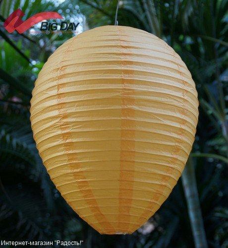 Апельсиновый подвесной китайский фонарик из рисовой бумаги