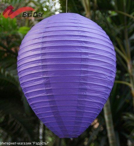 Пурпурный подвесной китайский фонарик из рисовой бумаги