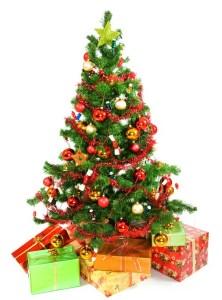 Новогодняя ёлка с подарками / упаковка для подарков для нового года