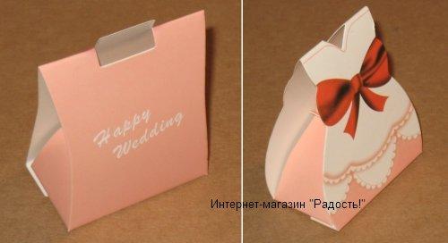 """свадебная подарочная картонная коробка """"Пастельные тона"""""""