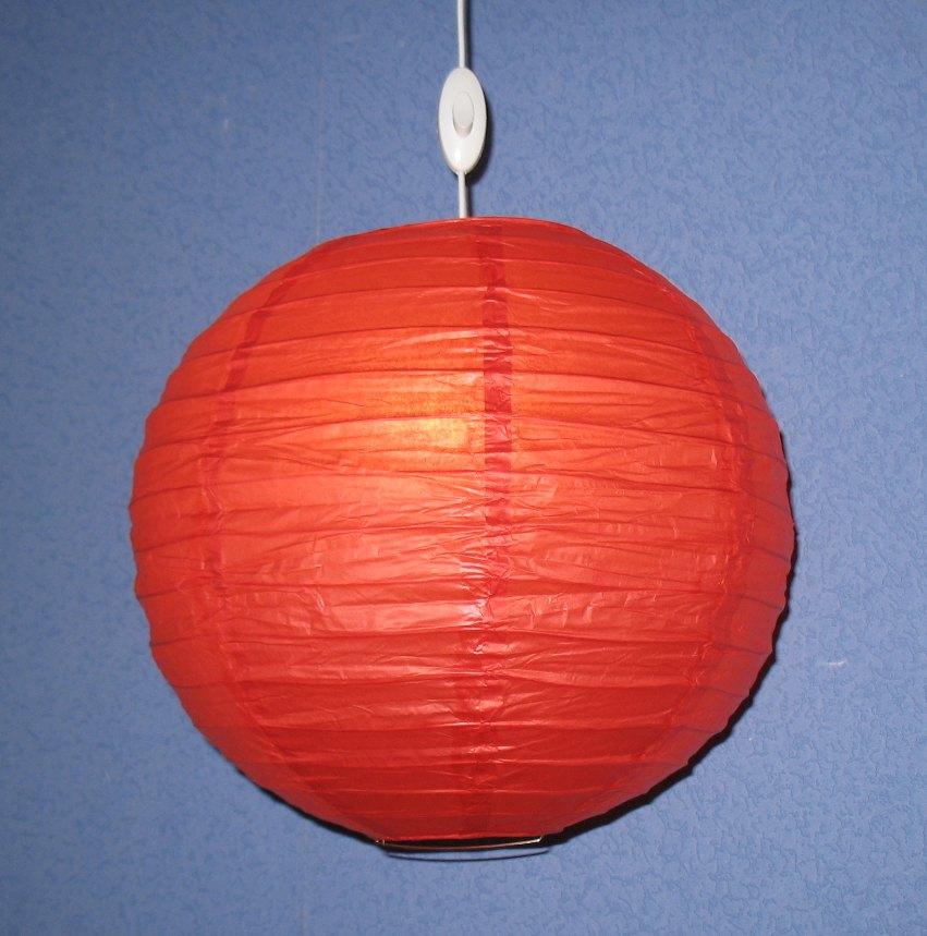 """декоративный подвесной светильник """"Китайский фонарик"""" при внешнем освещении"""