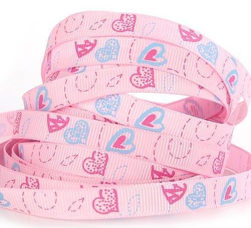 9.103: Розовая ленточка-Валентинка из набора из 4 лент для подарка любимому человеку