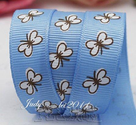 """9.119: Набор из 2 ленточек """"Бабочки"""": голубая лента"""