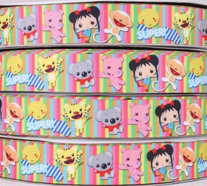"Декоративная лента ""Весёлые друзья"" с узором по мотивам мультфильма ""Ni Hao, Kai-lan"""
