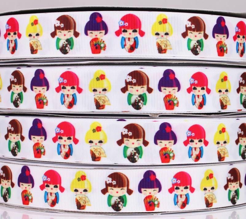 """Подарочная декоративная лента (репсовая, белая) """"Японская красавица"""" для оформления подарка в восточном стиле"""