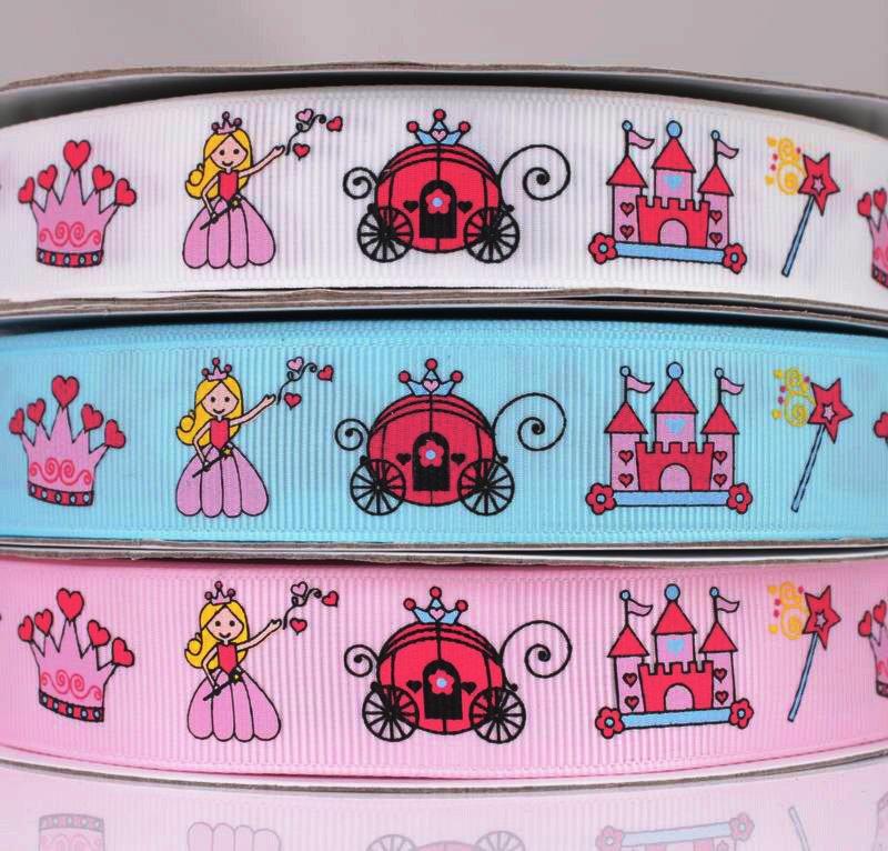 """Набор из 3 декоративных лент """"Принцесса"""" для оформления подарков"""