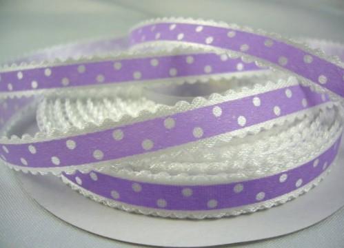 Оригинальная декоративная атласная лента цвета лаванда из набора лент
