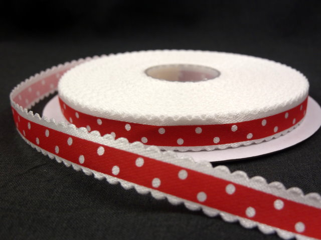 Оригинальная декоративная атласная лента красного цвета из набора лент