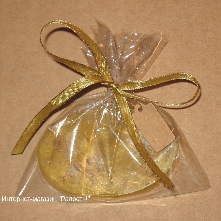 фото: подарочная упаковка из целлофанового прозрачного пакета для мыла