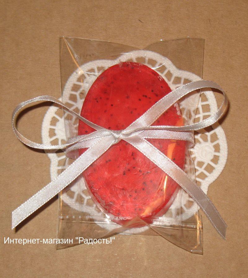 прозрачный пакет из целлофана - упаковка для мыла ручной работы, с ленточкой атласной белого цвета, фото