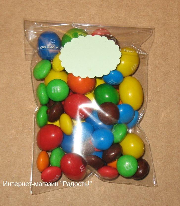 фото: пакетик из прозрачного целлофана с мини-этикеткой