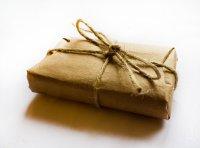 пример использования шпагата при оформлении упаковки для мыла ручной работы