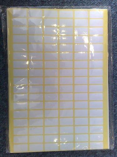Белые бумажные стикеры на товар, размер 18х28 мм