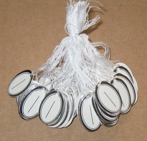 ювелирные бирки с серебряной каймой (без надписи)