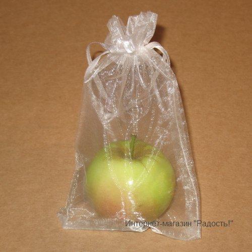 Белые подарочные мешочки из органзы