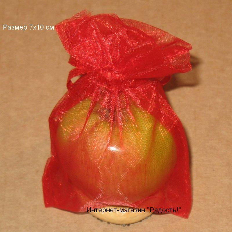красные мешочки из органзы
