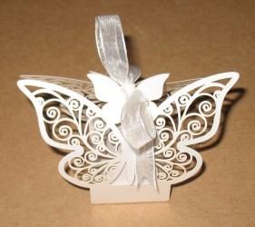 бомбоньерки в форме бабочки