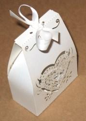 плоские бомбоньерки из картона с узором