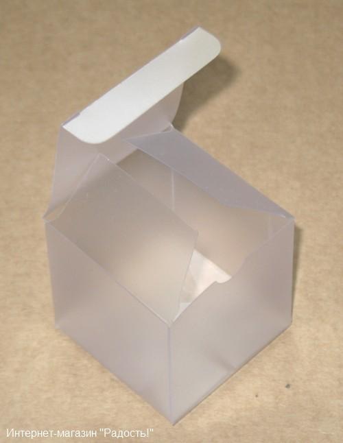 коробочка из матового пластика, открытая