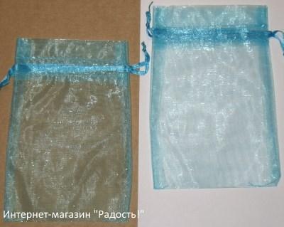 фото: мешочки из органзы цвета морской волны