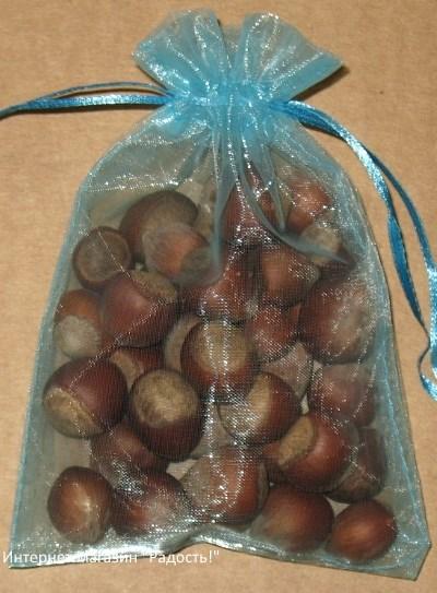 подарочные мешочки из органзы морской волны цвета, фото